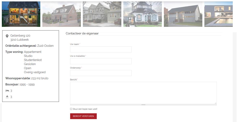 Via een innovatief design en de hoge gebruiksvriendelijkheid kan u in enkele klikken een verkoper/verhuurder contacteren!